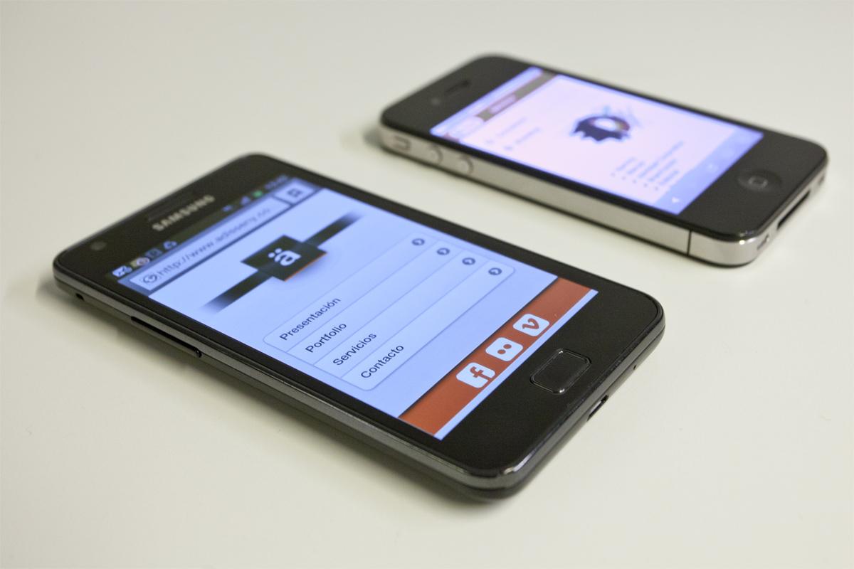 web para smartphones