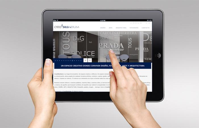 Diseño web responsive para creasilentium