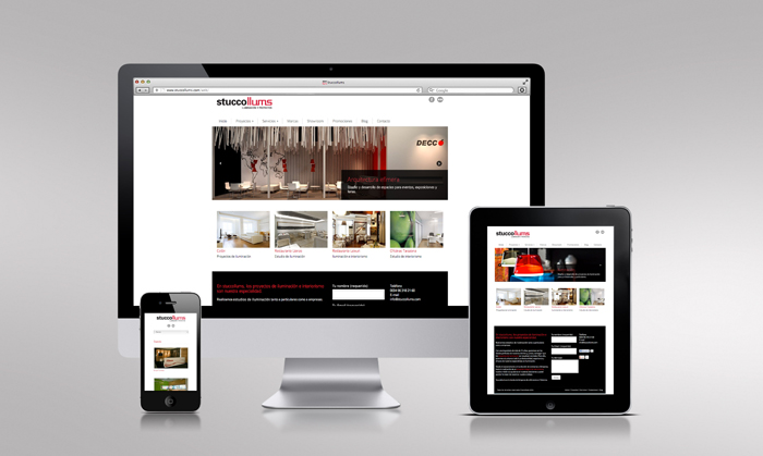 Diseño web responsive para Stuccollums